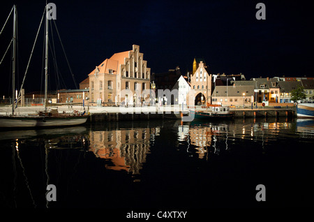 The Wassertor in the port of Wismar, Germany - Stock Photo