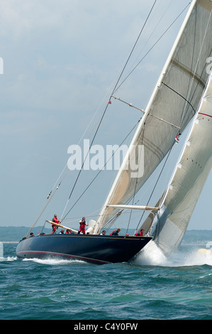 j class yachts racing - Stock Photo