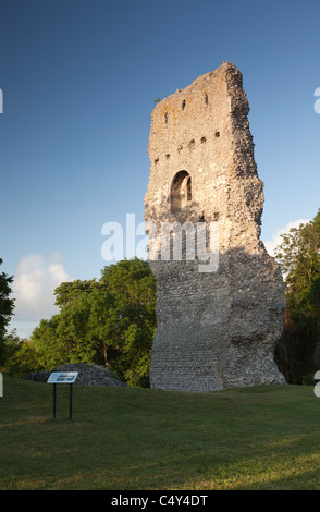 Bramber Castle ruin in Bramber near Steyning, West Sussex, England, UK - Stock Photo