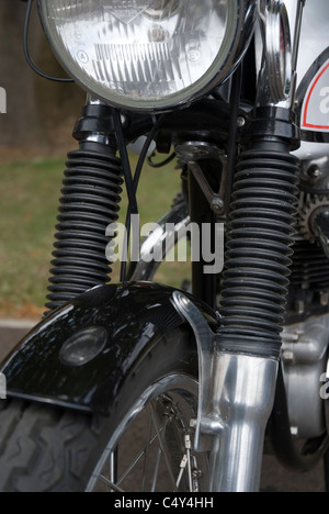 motorcycle telescopic front fork gaiters - Stock Photo
