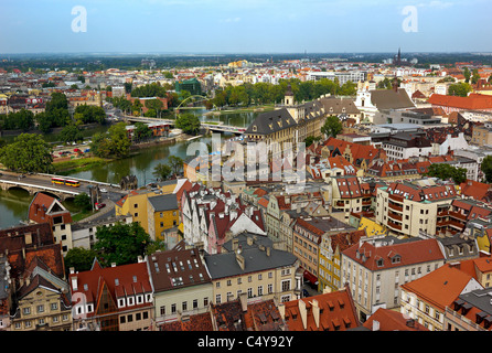 View of the old town and the Wroclaw University, Wroclaw, Poland - Stock Photo