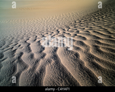Patterns in sand after intense wind storm. Death Valley National Park, California - Stock Photo