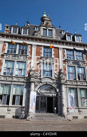 The trade exchange from 1932, Neo-Renaissance, now congress centre, Namur, Wallonia, Belgium, Europ - Stock Photo