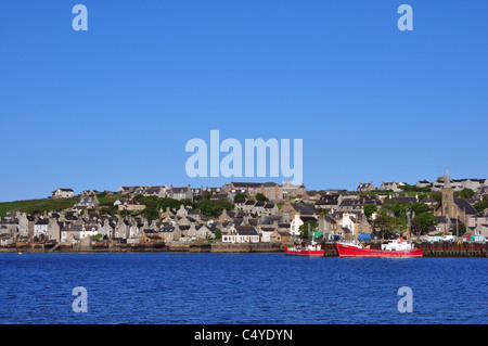 Town of Stromness on Mainland, Orkney, Scotland. - Stock Photo