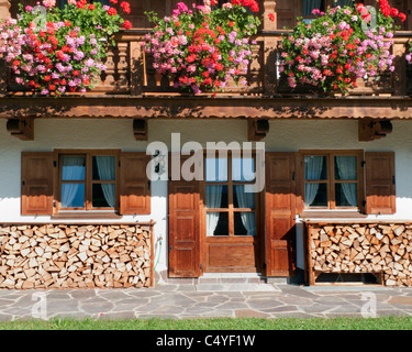 DE - Bavaria: Typical Bavarian Farmhouse - Stock Photo