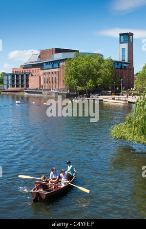 The Swan theatre over the river Avon at Stratford, England. - Stock Photo