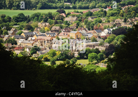 cotswold village cotswolds villages glocestershire - Stock Photo