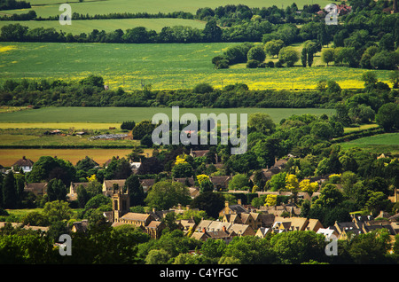 cotswold village cotswolds villages glocestershire - Stock Photo