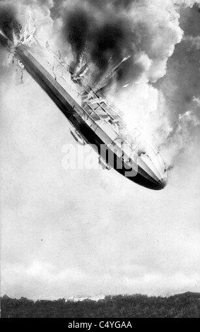 Zeppelin crashing - Stock Photo