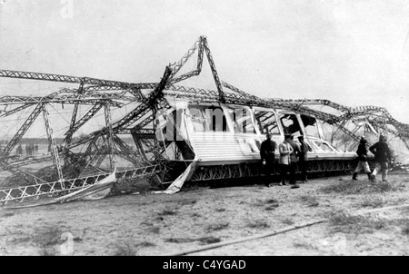 Wreck of German Naval airship - Stock Photo
