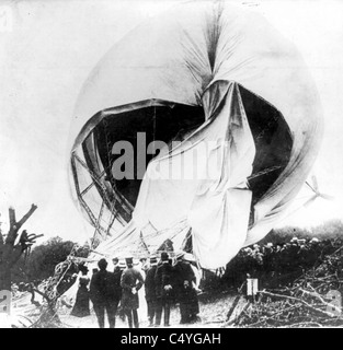 Wreck of German airship - Stock Photo
