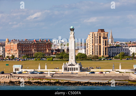 Portsmouth Naval Memorial on Southsea Common, Portsmouth, Hampshire England, UK - Stock Photo