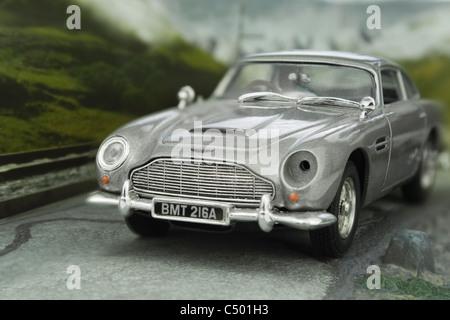 James Bond Aston Martin DB5 diecast model - Stock Photo