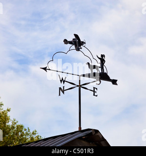 Decorative directional weather vane, England, UK - Stock Photo