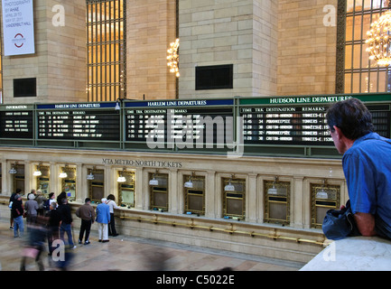 Grand Central Terminal, 42nd Street, New York City - Stock Photo