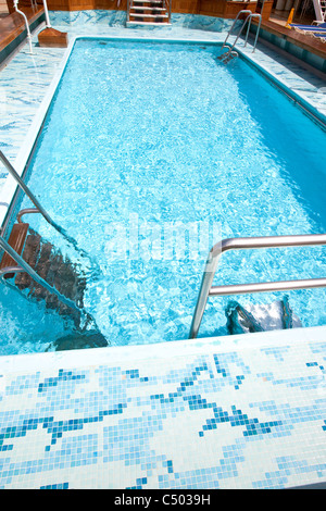 Swimming Pool On The Cunard Line Queen Elizabeth Ship Stock Photo Royalty Free Image 58938653