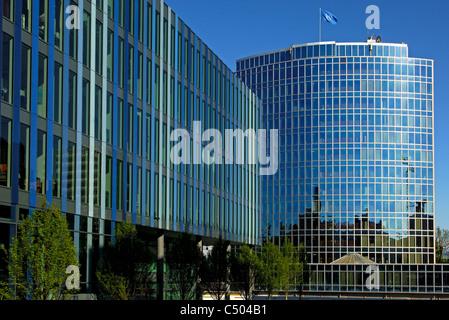 Headquarters of the World Intellectual Property Organization (WIPO), Geneva, Switzerland - Stock Photo