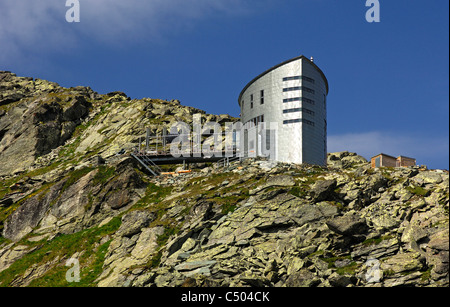 The futuristic Velan refuge, Cabane du Velan, of the Swiss Alpin Club (CAS), Valais, Switzerland - Stock Photo