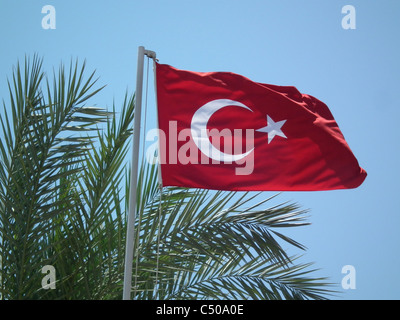 NATIONAL FLAG OF THE REPUBLIC OF TURKEY  Photo Tony Gale - Stock Photo