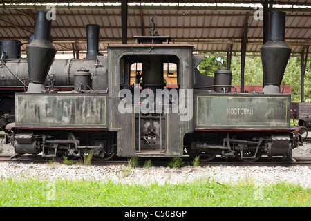 Old Locomotive and train museum, Uzicka Pozega, Serbia - Stock Photo