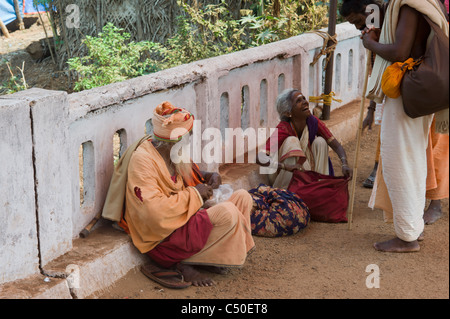 Hindu pilgrims at the Shivaratri festival in Gokarna, Karnataka state, India. - Stock Photo