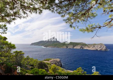 Sa Dragonera, uninhabited rocky island off Majorca, Balearic Islands, Spain, Europe - Stock Photo