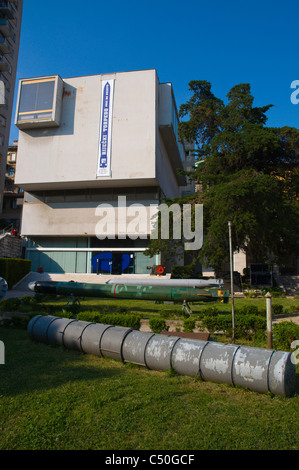 Torpedo in front of Muzej Grada the City Museum of Rijeka city by Gulf of Kvarner Croatia Europe - Stock Photo