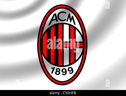 AC A.C. Milan logo flag symbol icon Stock Photo: 37507834 - Alamy
