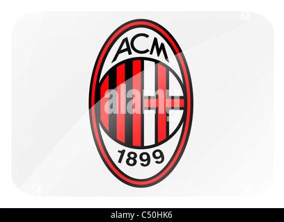 AC A.C. Milan logo flag symbol icon Stock Photo: 37507852 - Alamy