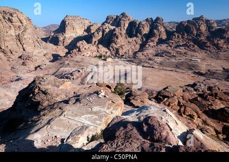 The Nabatean city of Petra - Stock Photo