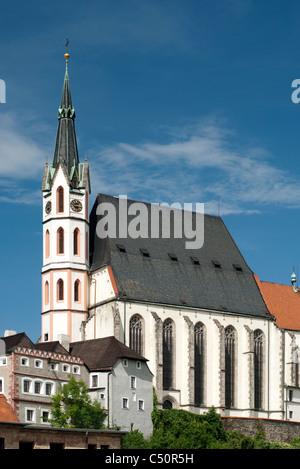 St. Vitus Church in Cesky Krumlov, Czech Republic - Stock Photo