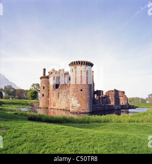Caerlaverock Castle, Dumfries and Galloway, Scotland, UK. Taken in Spring - Stock Photo