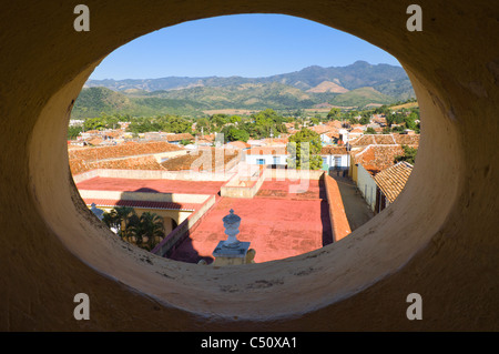 View from the Bell tower of the Museo Nacional de la Lucha Contra Bandidos over Trinidad, Cuba - Stock Photo