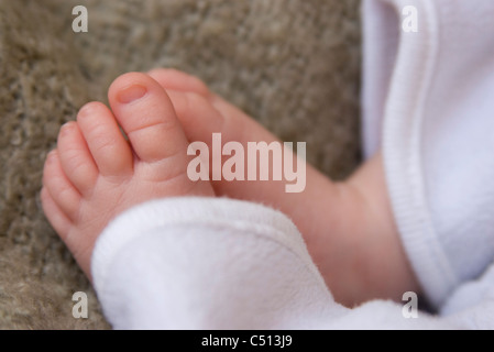 Baby's feet, close-up - Stock Photo