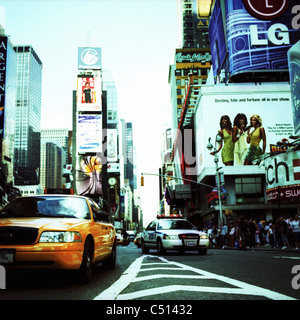 Busy street, Times Square, Manhattan, New York City, USA - Stock Photo