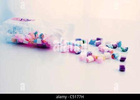 Bag of rock candies - Stock Photo