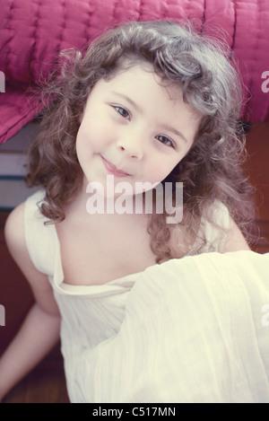 Smiling little girl, portrait - Stock Photo