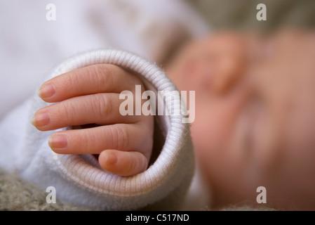 Baby's hand, close-up - Stock Photo
