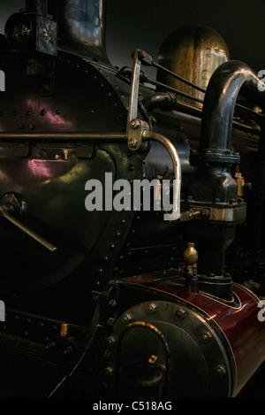 Antique steam train locomotive - Stock Photo