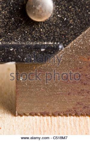Miter saw blade - Stock Photo