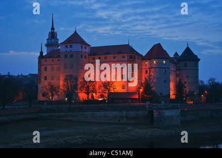 Hartenfels Castle Torgau Saxony Germany Europe - Stock Photo
