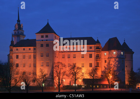 Hartenfels Castle Torgau Saxony Germany Europe - Stock Photo