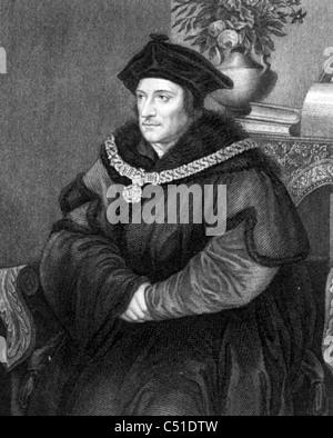 SIR THOMAS MORE (1478-1535) English statesman, author and Renaissance humanist - Stock Photo