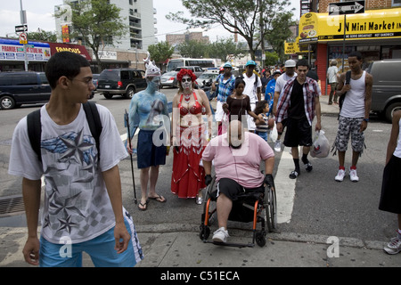2011: Mermaid Parade, Coney Island, Brooklyn, NY. - Stock Photo