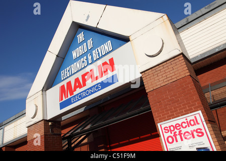 A Maplin Electronics store in Nottingham, England, U.K. - Stock Photo