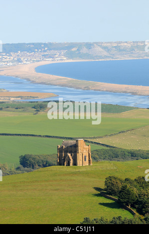 St Catherine's Chapel is a small chapel situated above the village of Abbotsbury in Dorset, England - Stock Photo