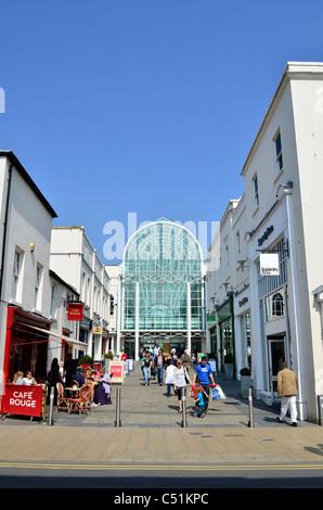 Satchwell Court & Royal Priors Shopping Centre, Leamington Spa, Warwickshire, UK - Stock Photo
