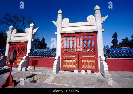 Gates in Temple of Heaven, Beijing, China - Stock Photo