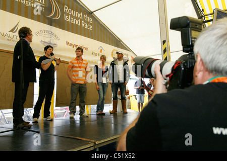 J P Morgan Asset Management Round the Island Race 2011 Cowes Isle of Wight Press Conference - Stock Photo