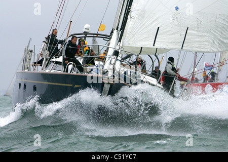 J P Morgan Asset Management Round the Island Race 2011 Cowes Isle of Wight - Stock Photo